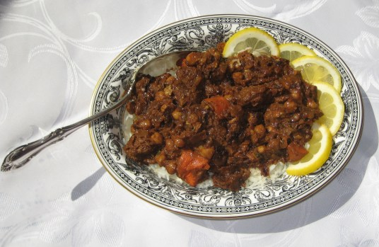 Lamb Tagine with Chickpeas, Lemon, and Mint
