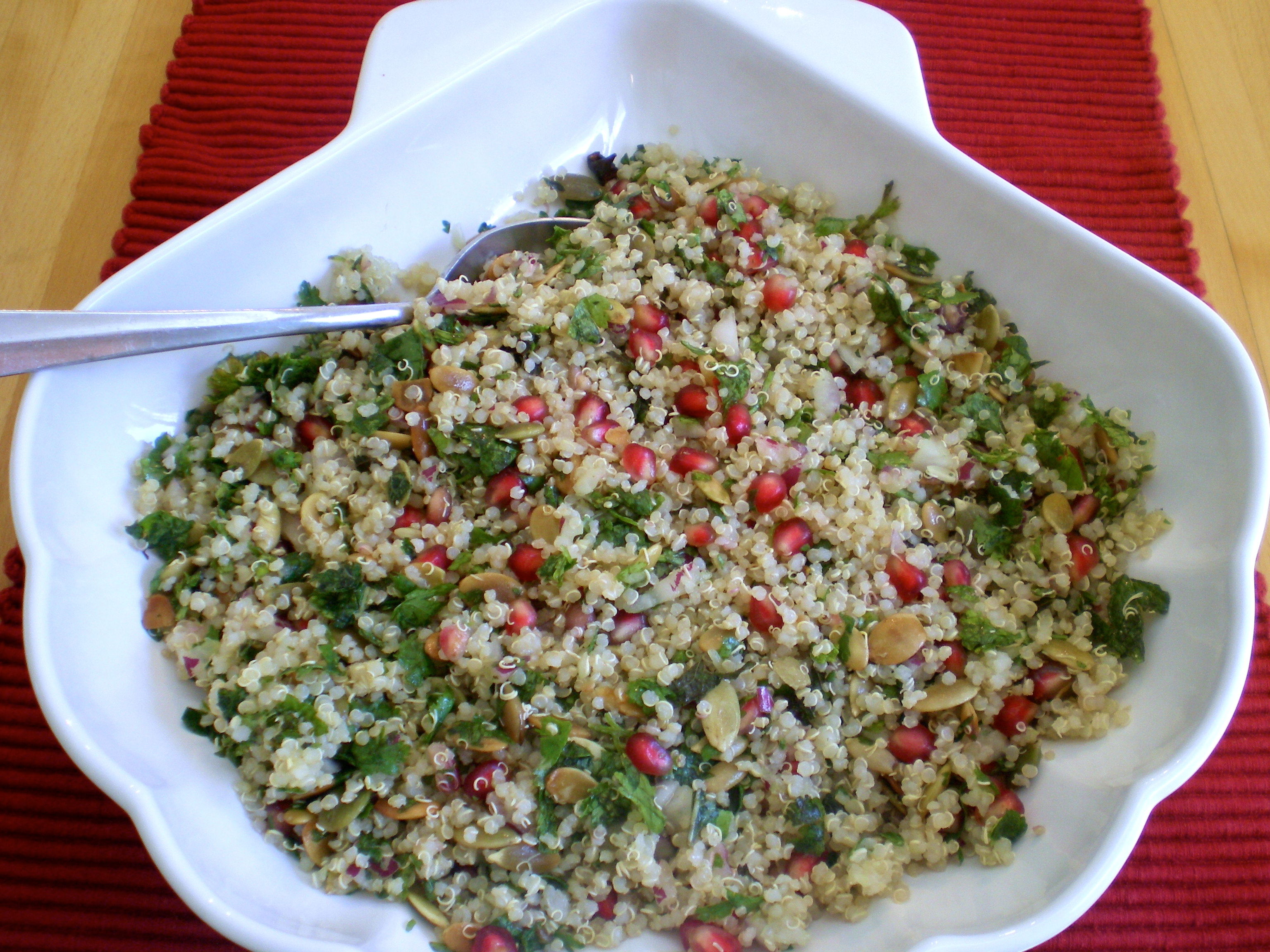 Quinoa Salad with Fresh Herbs and Pomegranate Seeds The Food