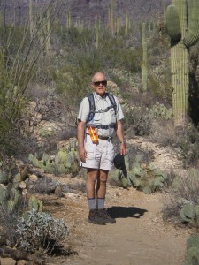 The spouse on a Tucson hike last year.